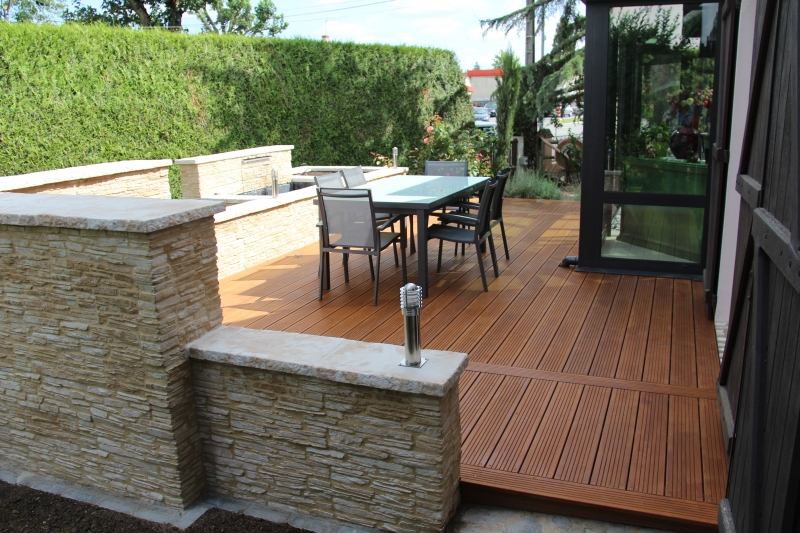 1000 ideas about muret on pinterest un muret dallage for Mur de terrasse en bois