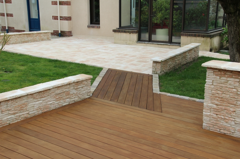 Creation De Terrasse En Pierre Paysagiste Chartres